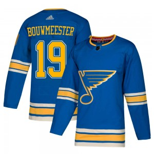 Men's Adidas St. Louis Blues Jay Bouwmeester Blue Alternate Jersey - Authentic